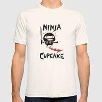 Ninja Cupcake Mens Fitted Tee Natural SMALL