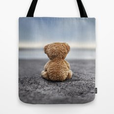 Teddy Blue Tote Bag