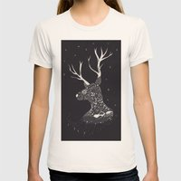 Deer Womens Fitted Tee Natural SMALL