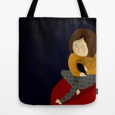 Me and my bird Tote Bag