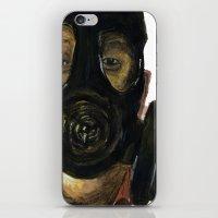 Gas mask iPhone & iPod Skin