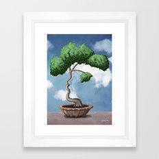 'Bonsai choose own way grow because root strong' (Miyagi version) Framed Art Print
