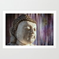 Buddha purple Art Print