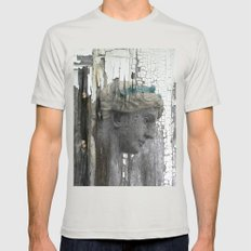 Grace Mens Fitted Tee Silver SMALL