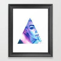 Technicolor Triangle Sh*… Framed Art Print