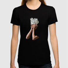 Crystal Visions I Womens Fitted Tee Black SMALL
