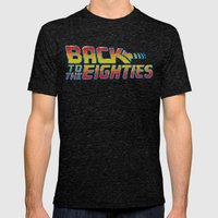 Back To The Eighties Mens Fitted Tee Tri-Black SMALL