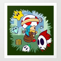 Treasure Tracked: Captain Toad's Fortune (Alt Version: No Text) Art Print