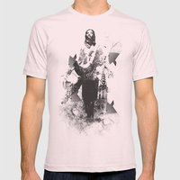 Divine Mens Fitted Tee Light Pink SMALL
