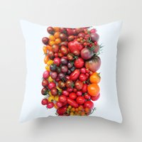 TOMATOES ARE RED Throw Pillow