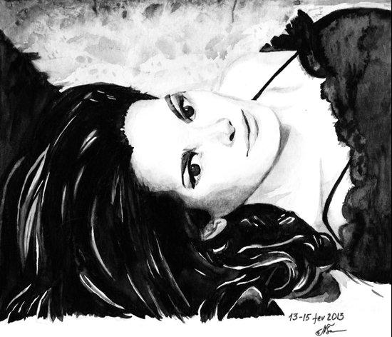 Chocolate lady Art Print