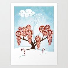 Magic Candy Tree - V3 Art Print