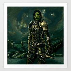 Skyrim - Shro-gan vampire hunter Art Print