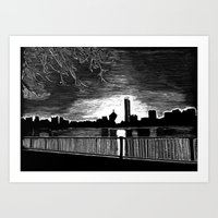 Boston, Back Bay at Sunrise Art Print
