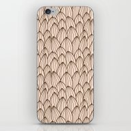 Cactus Grid Light Brown iPhone & iPod Skin