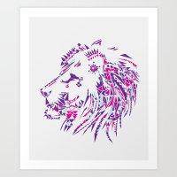 Aztec Lion Art Print