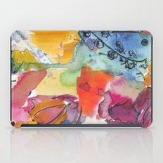 Abstract floral watercolour iPad Case