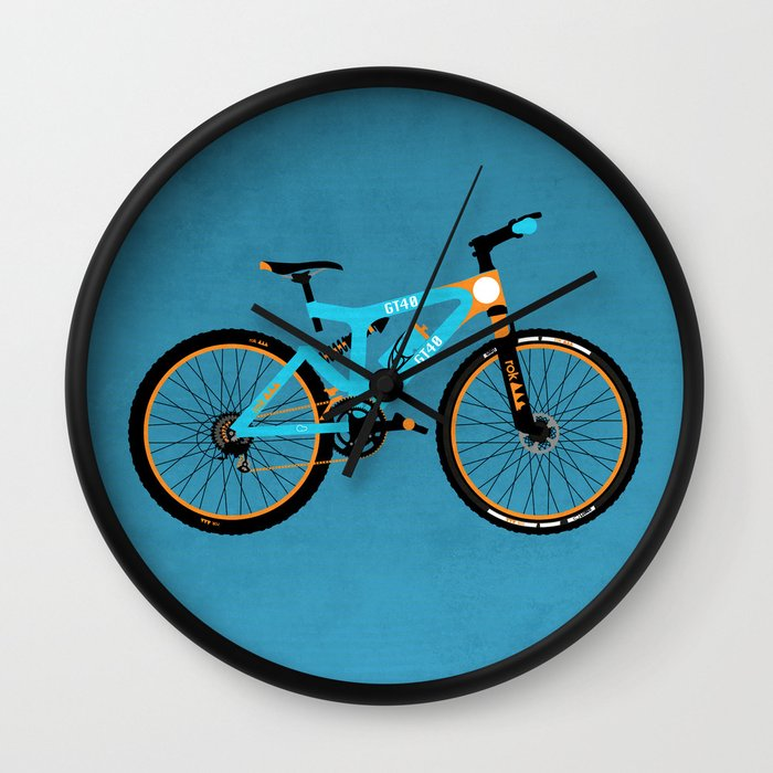 Bike Design Wall Clock : Mountain bike wall clock by wyatt design society