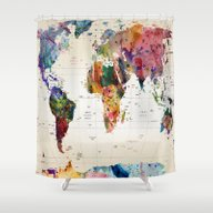 Shower Curtain featuring Map by Mark Ashkenazi