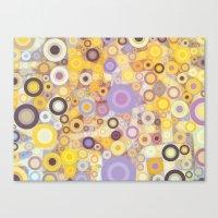 Purple Yellow Washing Machine Cycle Canvas Print