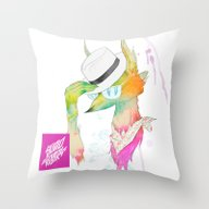 Throw Pillow featuring Rock The Floral by STUDIOKILLERS