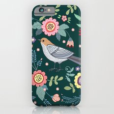 Pattern with beautiful bird in flowers Slim Case iPhone 6s