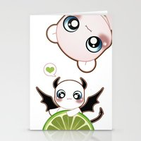 Kawaii Monster  Stationery Cards