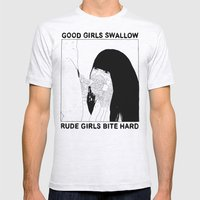 GOOD GIRLS VS RUDE GIRLS Mens Fitted Tee Ash Grey SMALL
