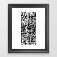 Digital Monoprint Pattern Print. Framed Art Print
