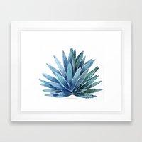 Blue Agave Framed Art Print