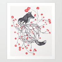Blossom Fox Art Print