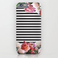 iPhone Cases featuring stripes and flowers by Priscila Peress