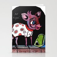 Bambi has just escaped... Stationery Cards