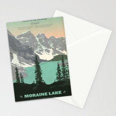 Moraine Lake Poster Stationery Cards
