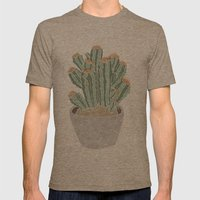 Cactus Mens Fitted Tee Tri-Coffee SMALL