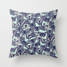 butterfly pale mint Throw Pillow