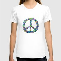 Peace Out Womens Fitted Tee White SMALL