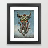In To The Blue Framed Art Print