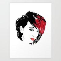 minimal girl 2 Art Print