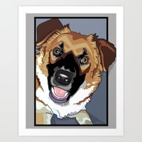 Trina Dog Art Print