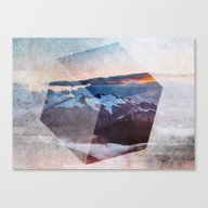 Canvas Print featuring 3D Mountains by Cafelab