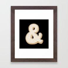 Ampersandonut Framed Art Print