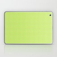 Picnic Pals gingham in citrus Laptop & iPad Skin