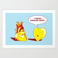 Simple Heart Art Print