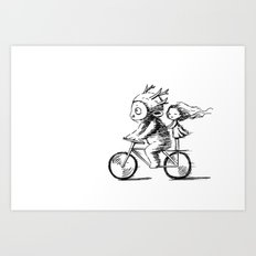 Bicycle Ride Art Print