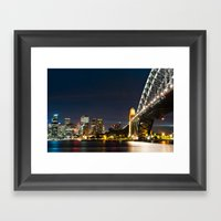 Sydney City Scape Framed Art Print