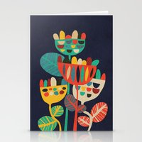 geometric Stationery Cards featuring Wild Flowers by Picomodi