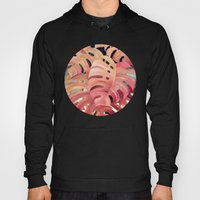 Monstera Love in Magenta and Coral - oil painting Hoody