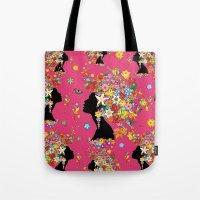 Hummingbird Kiss on Floral Girl  Tote Bag