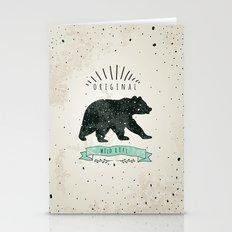 Vintage Label Bear. Desi… Stationery Cards